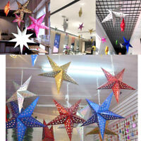 3D Star Paper Lantern Laser Lampshade Xmas Wedding Party Home Bar Hanging Decor
