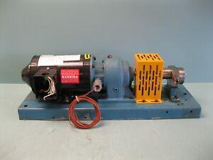 """1/2"""" Zenith 61-20000-03 Metering Pump 1/2 HP Motor P15 (2832)"""