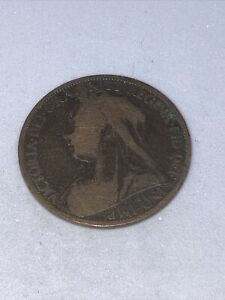 1900 One Penny Queen Victoria - Circulated