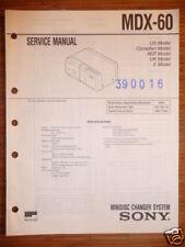 Service Manual Sony MDX-60 Mini Disc Changer,ORIGINAL