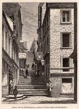 QUEBEC VILLE RUE DU PETIT CHAMPLAIN TAILLEUR MOTARD CANADA  IMAGE 1875 PRINT