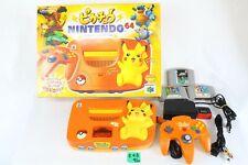 Nintendo 64 console Pokemon Pikachu Orange Yellow Japan N64 tested working E4B