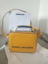 Hot sales Marc Jacobs Textured Mini  Box Bag Leather Bag yellow