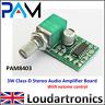 PAM8403 2 x 3W Stereo Class D Digital Audio Amplifier Board