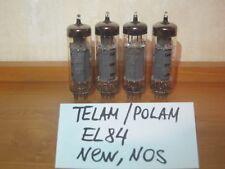 4x TELAM POLAM EL84 (6P14P-EV, E84L, 6BQ5) USSR OUTPUT PENTODE, NEW, NOS