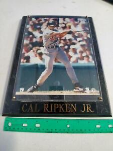 """10"""" x 13"""" Cal Ripken Jr Black Marble Plaque ~ 8X10 photo, Brass Plate (D15)"""