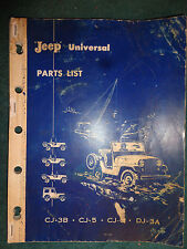 1962 & PRIOR WILLYS JEEP PARTS CATALOG / ORIGINAL CJ-3B / CJ-5 / CJ-6 PARTS BOOK