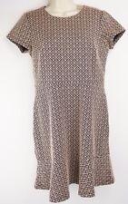 NWT $79.50 Ann Taylor Knit Aztec Print Dress Size 6 Petite Zip Back