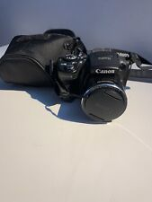 Canon PowerShot SX500 IS 16.0MP Digital Camera - Black w/ case needs charger