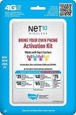 Bring Your Own Phone Activation kit Net10 works with Top 4 Carriers nano,micro,