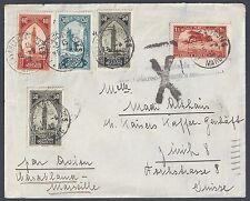 MOROCCO FRANCE 1932 MARKED PAR EVION CASABLANCA MARSEILLE TO ZURICH SWITZERLAND