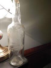St. Pierre Smirnoff (Vtg.) 1818 *Embossed* (4/5 Quart) GLASS BOTTLE [Free Ship.]