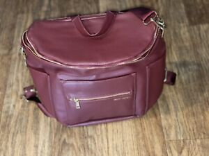 Fawn Design Diaper Bag and Backpack Color: Burgundy