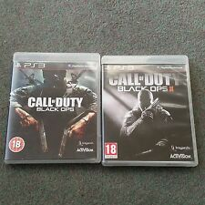 Call of Duty Black Ops & Black Ops II (2) PS3 juegos con el modo Zombie
