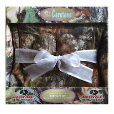 Mossy Oak Break-Up Boxed Baby Gift Set Blanket Booties Bib Camo Three Piece Set