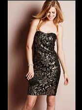 "BNWT "" NEXT "" Size 8 Petite GOLD SEQUINED DRESS Party, Weddings (36 EU) Black"