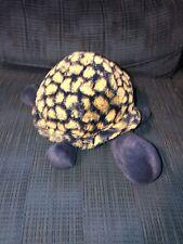 "Rare HTF Jellycat London Blue Yellow Tootle Turtle Soft Plush Tortoise 12"""
