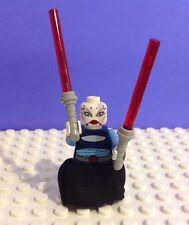 Asajj Ventress Star Wars Lego Minifig Dark Blue torso skirt SW195 7676 clone