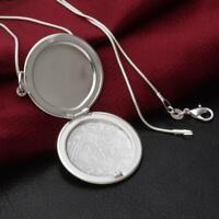 schmuck charme runde anhänger versilbert foto: medaillon halskette sanke kette