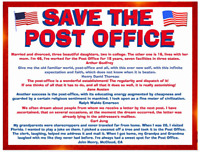 Save The Post Office - protest postcard
