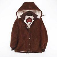 Vintage SERGIO VALENTE  Brown 90s Suede Casual Outdoor Jacket Womens M