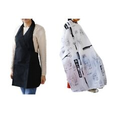 Hair Cutting Cape Salon Hairdressing Hairdresser Gown Barber Cloth Apron 2Pc