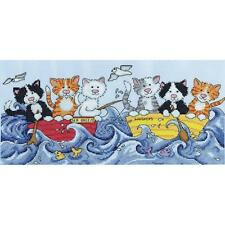 NEW!! Design Works AT SEA CATS Counted Cross Stitch Kit KATE MAWDSLEY