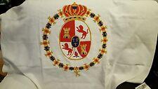 VTG HARWOOD STEIGER COTTON PANEL Coat of Arms Castille y León Spain Castle Lions