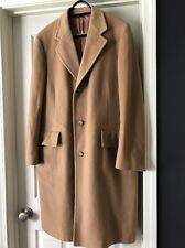 VTG 100% CASHMERE Mongolian Hand Detailed  Full Length Button Dress COAT 10/12
