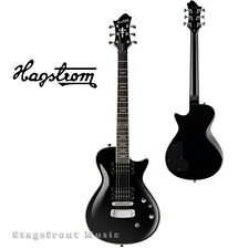 HAGSTROM HSULSWEBLK ULTRA SWEDE ELECTRIC GUITAR IN BLACK GLOSS - NEW