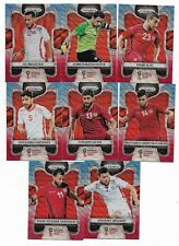 2018 Panini Prizm FIFA World Cup BLUE RED Wave Team Set TUNISIA (8 Cards)