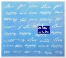 STICKERS ONGLES WATER DECAL (x39) - Nail art - Textes - Blanc