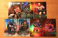 2000-01 UD Pros & Prospects a Lot of 7 Insert Cards