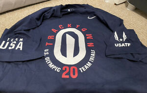 Tracktown USA 2021 Tokyo Olympic Track n Field Trails Staff Wh or Ble Tee Shirt