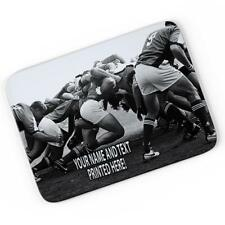 Personalised Rugby Scrum Mouse Mat Pad Computer Gaming Gift Him Boys ST478