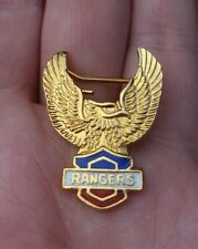 More details for glasgow rangers blue white red & gold gilt vintage eagle pin badge rare vgc