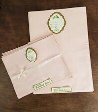Vtg. Pink Pure Irish Linen Tablecloth & 6 Napkins Set