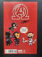Marvel Comics New Avengers #1 Skottie Young SIGNED Variant Cover baby Marvel Now