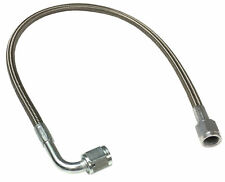 "-3AN 18"" Stainless Braided PTFE Brake Line Straight x 90° -3 hose"