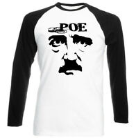 EDGAR ALLAN POE QUOTE - BLACK SLEEVED BASEBALL TSHIRT S-M-L-XL-XXL