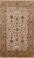 Vegetable Dye Agra Floral Oriental Area Rug Hand-knotted Classic 4'x6' Carpet