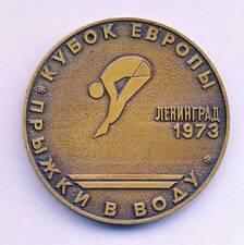 1973 DIVING European Cup PARTICIPANT MEDAL Plaque LENINGRAD USSR
