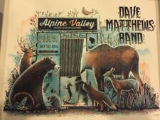 2016 DAVE MATTHEWS BAND ELKHORN ALPINE PHOTO BOOTH CONCERT POSTER 7/1 #/1375 S/N
