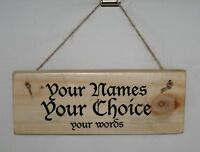Personalised Words Sign Plaque Outdoor Shed Den Bar Wedding Party Pub Olde World