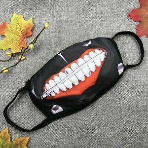 Cotton Mask Mouth Anime Tokyo Ghoul Kaneki Ken Zipper Cosplay Face Cover New