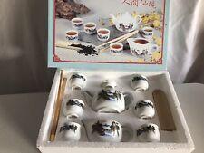 Vintage Porcelain Miniature Tea Set - 10 Pieces from Korea NEW FREE SHIPPING