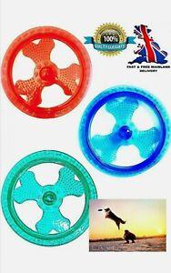 Light Up 240mm Luminous Flashing Dog Frisbee Flying Disc Training Toy 9 Inch