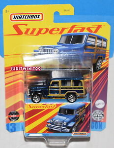 MATCHBOX 2021 SUPERFAST 1962 WILLYS JEEP WAGON