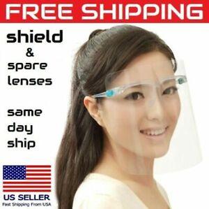 USA Face Shield Full Clear Glasses Frame + Lens