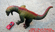 Godzilla Rare 1980's Collectible Articulating Prop + Mini 2007 Godzilla + Book